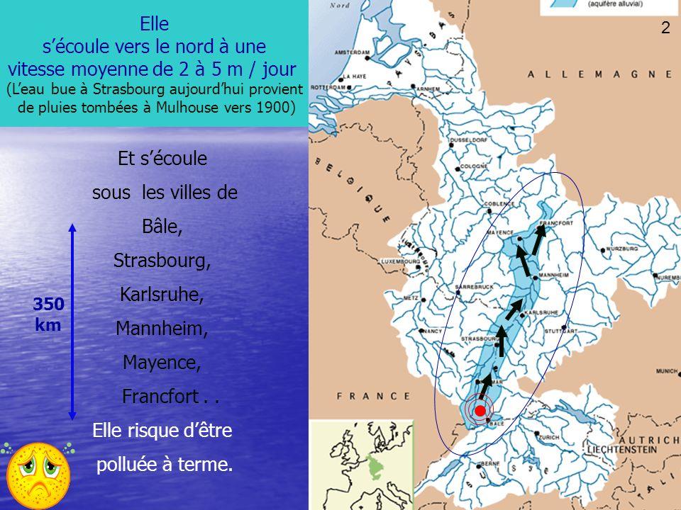 25 La nappe phréatique rhénane sétale sur plus de 5000 km² (2800 km² en Alsace) Leau cest la vie POURTANT, Notre ressource en eau potable risque dêtre