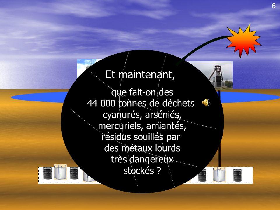 Nappe phréatique En 2002, 3 ans et demi après le début de lenfouissement, un incendie stoppe ce projet ! unique en France. 5 Ils avaient dit quaucun i