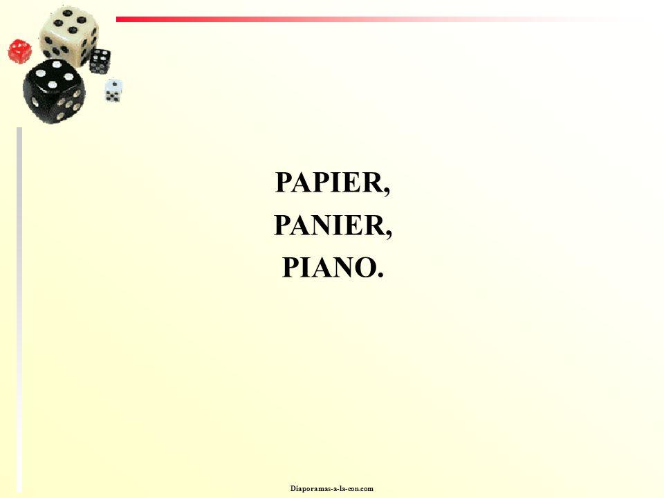 Diaporamas-a-la-con.com PAPIER, PANIER, PIANO.