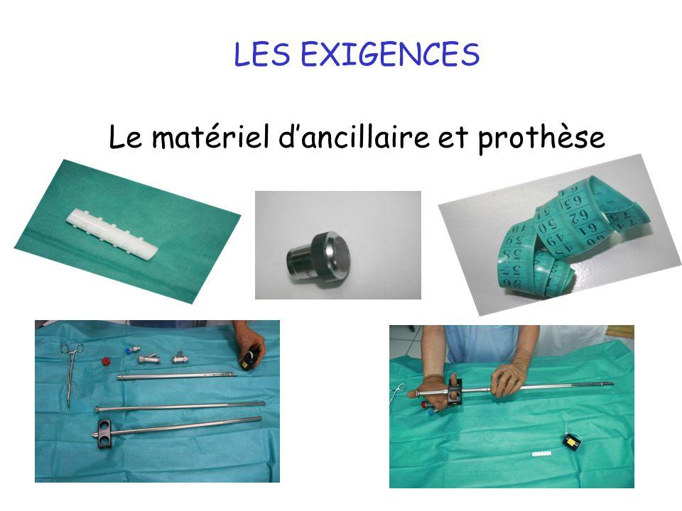 10 LES EXIGENCES Le matériel dancillaire et prothèse