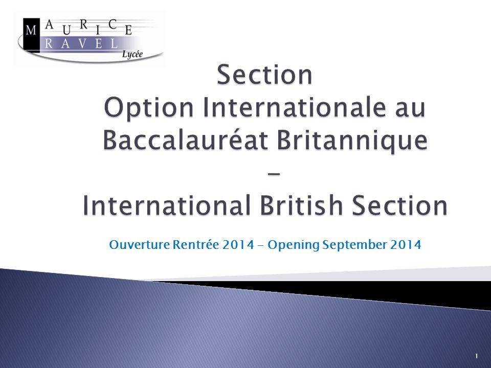 Ouverture Rentrée 2014 - Opening September 2014 1
