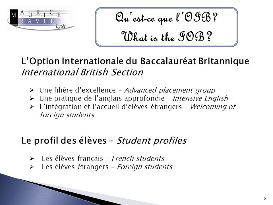 Quest-ce que lOIB.What is the IOB .