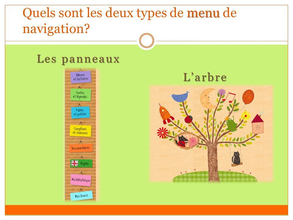 menu Quels sont les deux types de menu de navigation Les panneaux Larbre