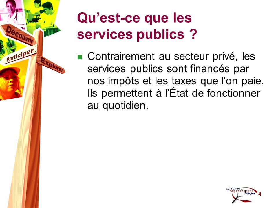 5 Les services du gouvernement du Canada (fédéral) Exemples Garde côtière Citoyenneté et Immigration Canada Gendarmerie royale du Canada Parcs Canada Santé Canada Etc.