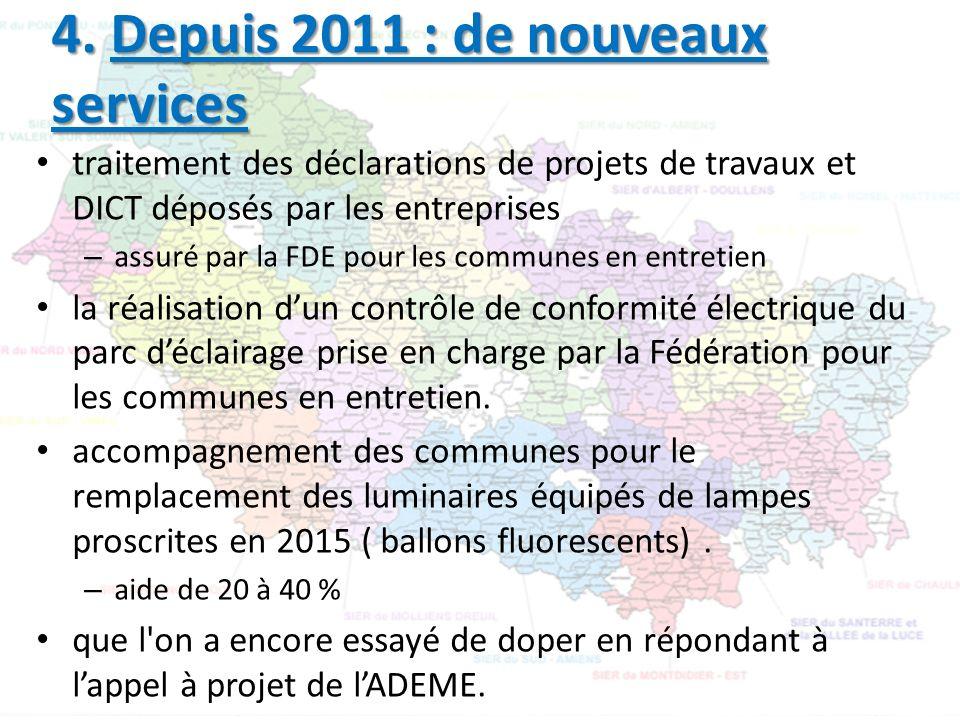 traitement des déclarations de projets de travaux et DICT déposés par les entreprises – assuré par la FDE pour les communes en entretien la réalisatio