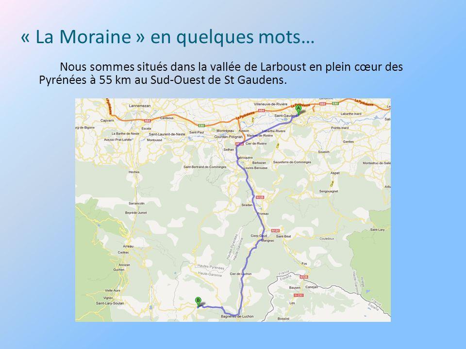 Nous sommes situés dans la vallée de Larboust en plein cœur des Pyrénées à 55 km au Sud-Ouest de St Gaudens.