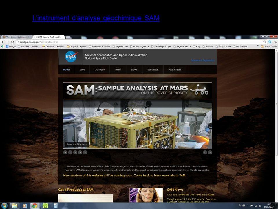 Linstrument danalyse géochimique SAM