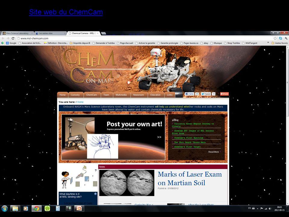 Site web du ChemCam