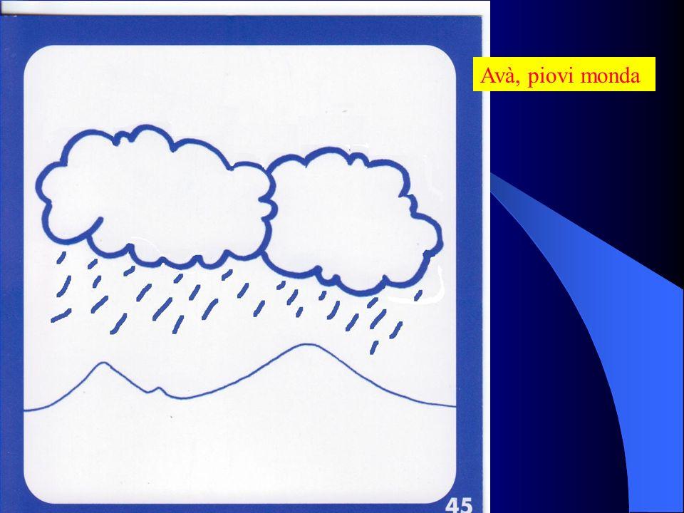Avà, piovi monda