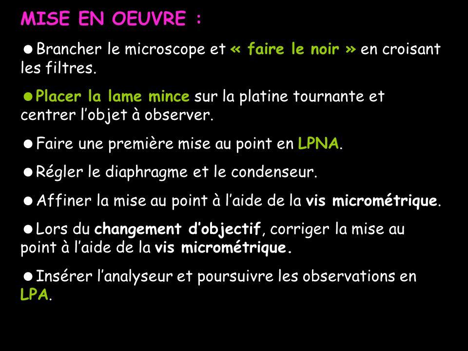CLE DE DETERMINATION SIMPLIFIEE DES MINERAUX
