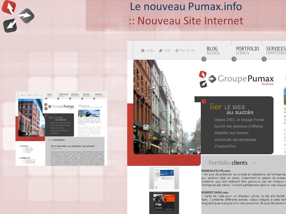 Le nouveau Pumax.info :: Nouveau Site Internet