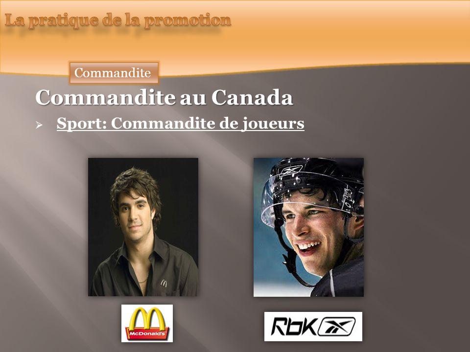 Commandite au Canada Sport: Commandite de joueurs Commandite