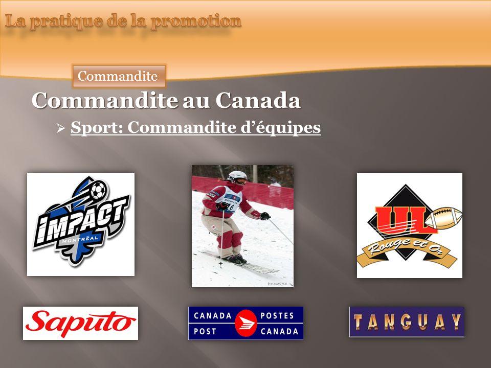 Commandite au Canada Sport: Commandite déquipes Commandite
