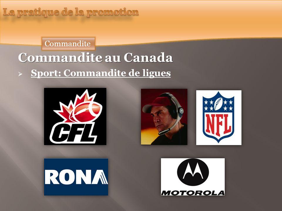 Commandite au Canada Sport: Commandite de ligues Commandite