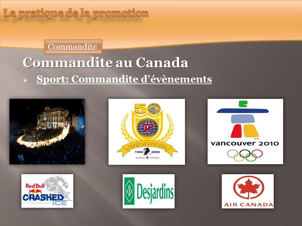Commandite au Canada Sport: Commandite dévènements Commandite