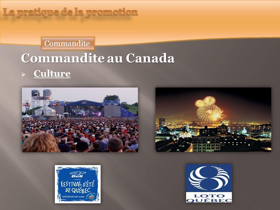 Commandite au Canada Culture Commandite