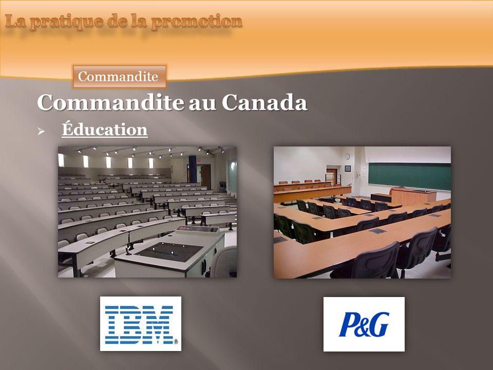 Commandite au Canada Éducation Commandite