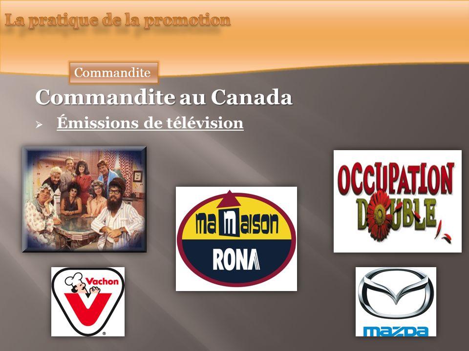 Commandite au Canada Émissions de télévision Commandite