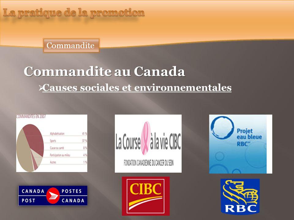 Commandite au Canada Causes sociales et environnementales Commandite