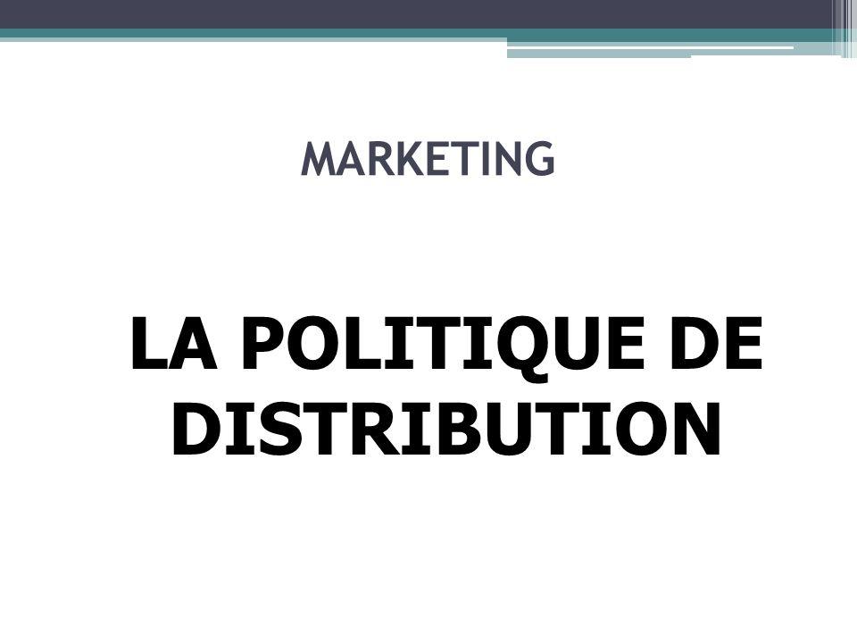 POLITIQUE DE DISTRIBUTION Les Grands Magasins Très grandes surfaces de ventes sur plusieurs niveaux et grands nombre de références.
