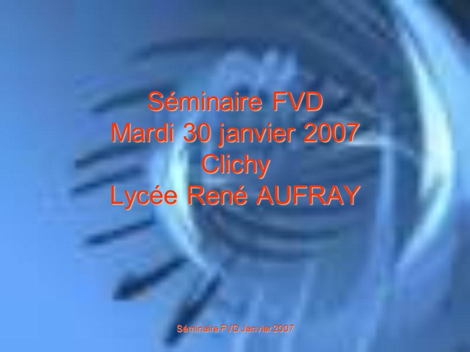 Séminaire FVD Janvier 2007 I - La fédération de la vente directe et le BTS Négociation et Relation Client Cependant, peu de jeunes semblent intéressés par ce métier.