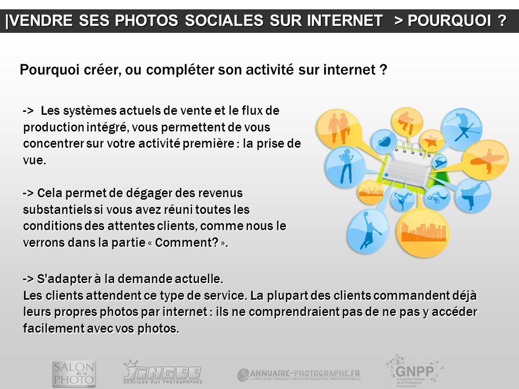  VENDRE SES PHOTOS SOCIALES SUR INTERNET > POURQUOI ? -> Les systèmes actuels de vente et le flux de production intégré, vous permettent de vous conce