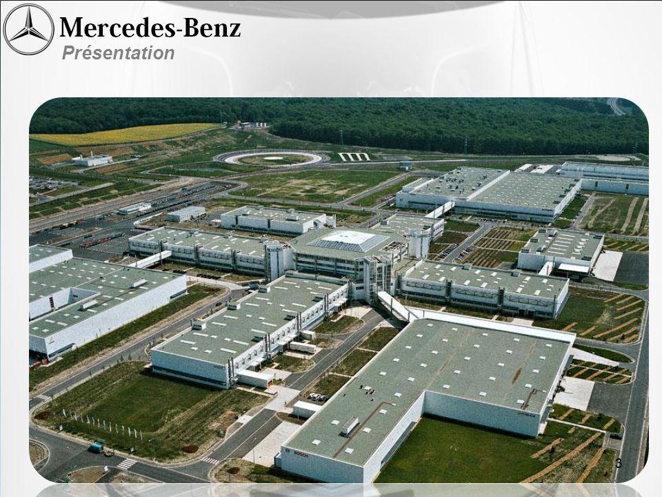 Lâge de la maison Mercedes-Benz 125 ans 135 000 employés 260 000 collaborateurs 12 grande usine a travers tous lAllemagne Présentation 3