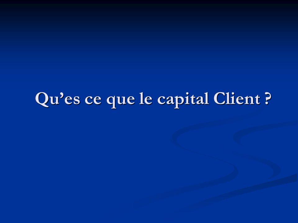 Ques ce que le capital Client ?
