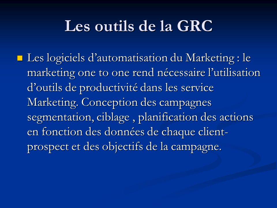 Les logiciels dautomatisation du Marketing : le marketing one to one rend nécessaire lutilisation doutils de productivité dans les service Marketing.