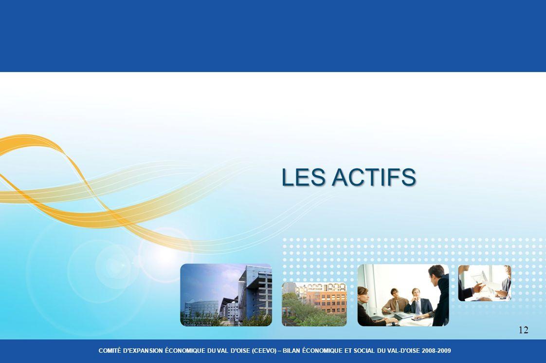 LES ACTIFS 12 COMITÉ DEXPANSION ÉCONOMIQUE DU VAL DOISE (CEEVO) – BILAN ÉCONOMIQUE ET SOCIAL DU VAL-D OISE 2008-2009