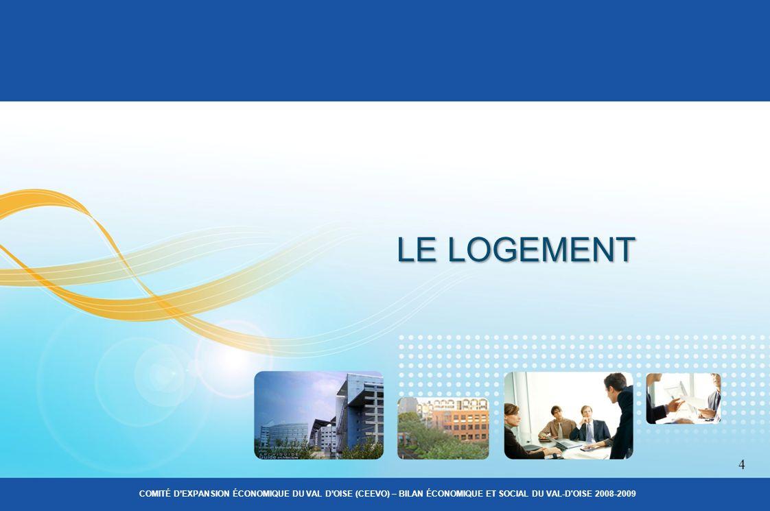 LE LOGEMENT 4 COMITÉ DEXPANSION ÉCONOMIQUE DU VAL DOISE (CEEVO) – BILAN ÉCONOMIQUE ET SOCIAL DU VAL-D OISE 2008-2009
