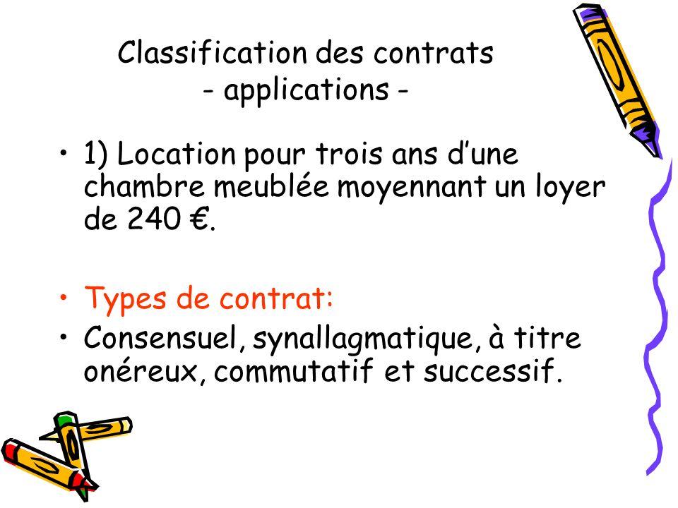 Le contenu Le contrat synallagmatique ou bilatéral : obligations réciproques Le contrat unilatéral : une seule partie s'engage envers l'autre sans que