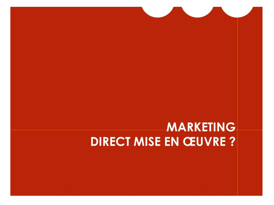 MARKETING DIRECT MISE EN ŒUVRE ?