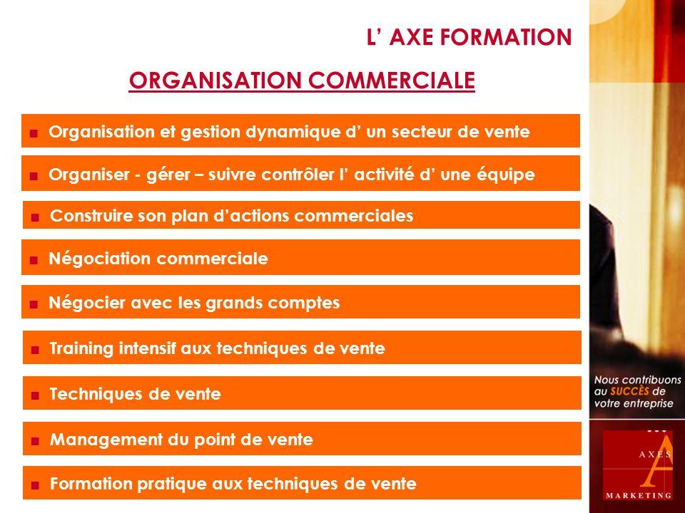 Organisation et gestion dynamique d un secteur de vente Organiser - gérer – suivre contrôler l activité d une équipe Construire son plan dactions comm