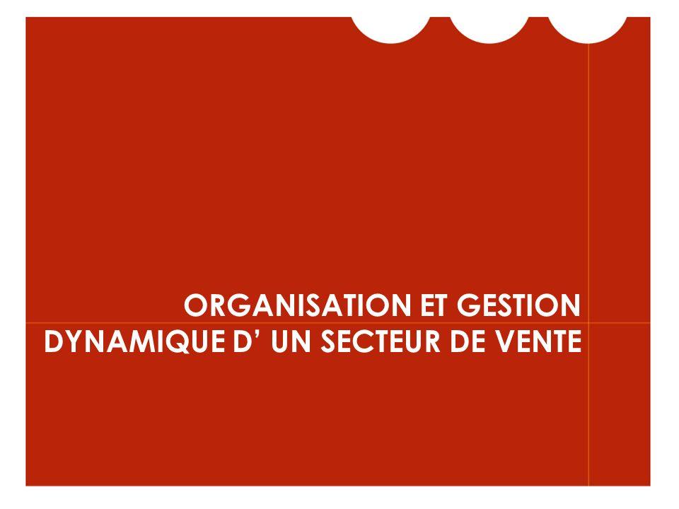ORGANISATION ET GESTION DYNAMIQUE D UN SECTEUR DE VENTE
