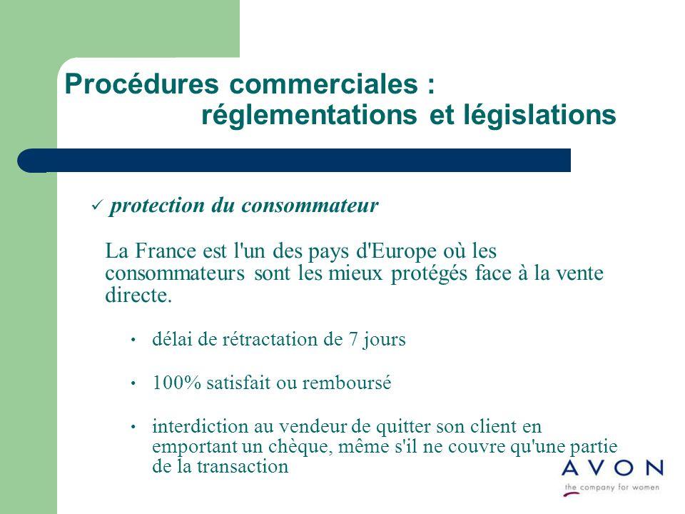 protection du consommateur La France est l'un des pays d'Europe où les consommateurs sont les mieux protégés face à la vente directe. délai de rétract