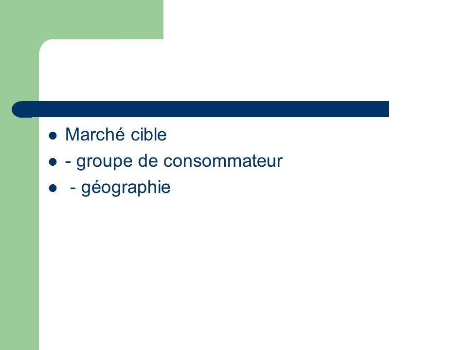 Marché cible - groupe de consommateur - géographie