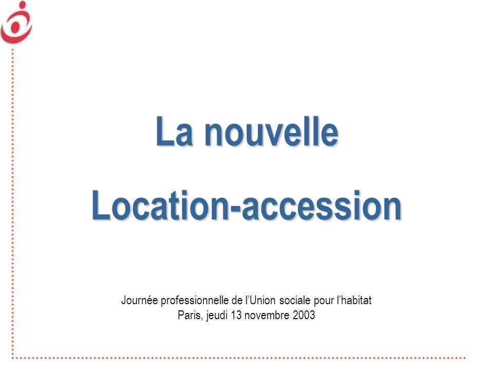 La nouvelle Location-accession Journée professionnelle de lUnion sociale pour lhabitat Paris, jeudi 13 novembre 2003