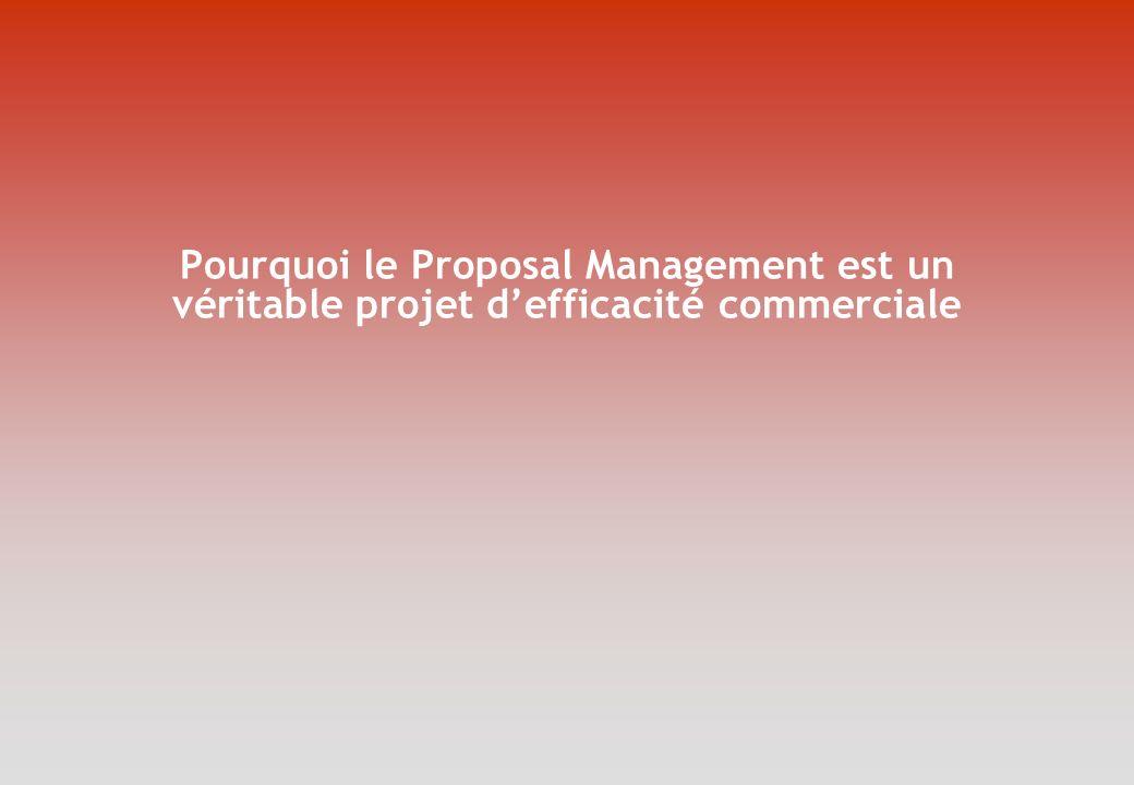 Pourquoi le Proposal Management est un véritable projet defficacité commerciale