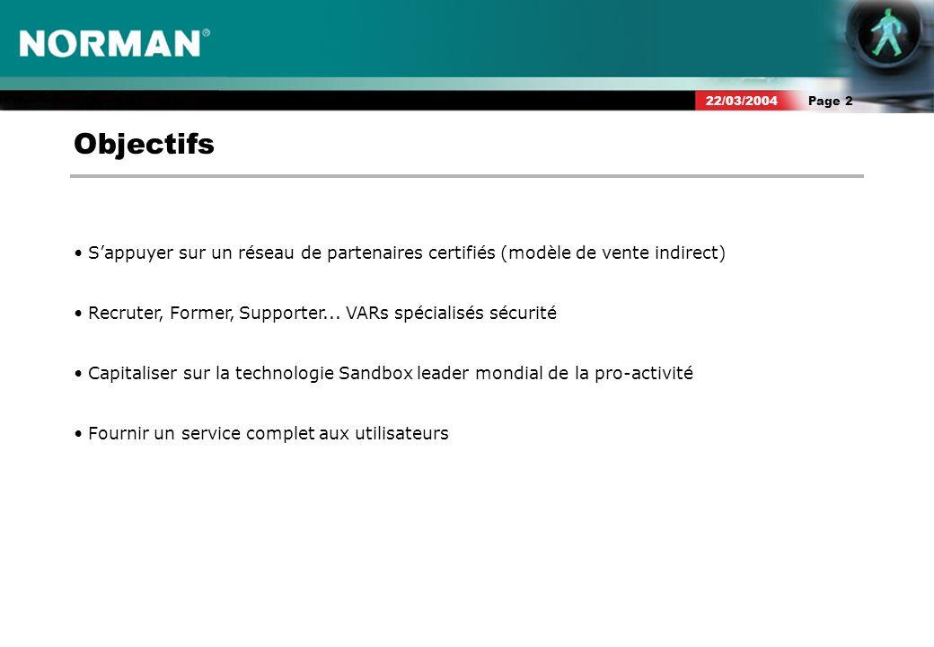 Page 322/03/2004 Norman Partenaire Logo Norman Solutions Partenaire Web Diplôme Avantages - Reconnaissance