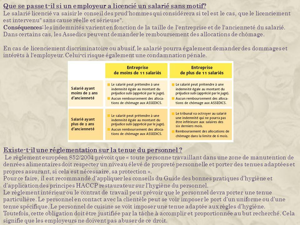 Que se passe t-il si un employeur a licencié un salarié sans motif? Le salarié licencié va saisir le conseil des prud'hommes qui considérera si tel es