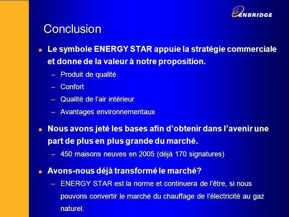 Conclusion n Le symbole ENERGY STAR appuie la stratégie commerciale et donne de la valeur à notre proposition.