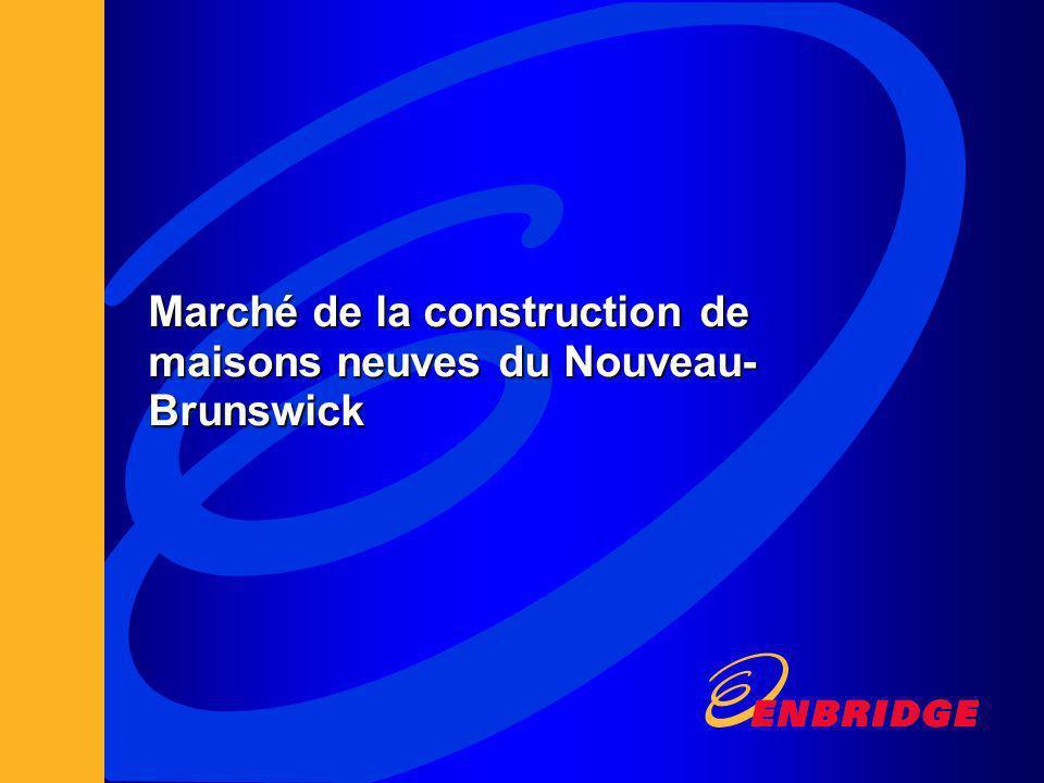 Marché de la construction de maisons neuves du Nouveau- Brunswick