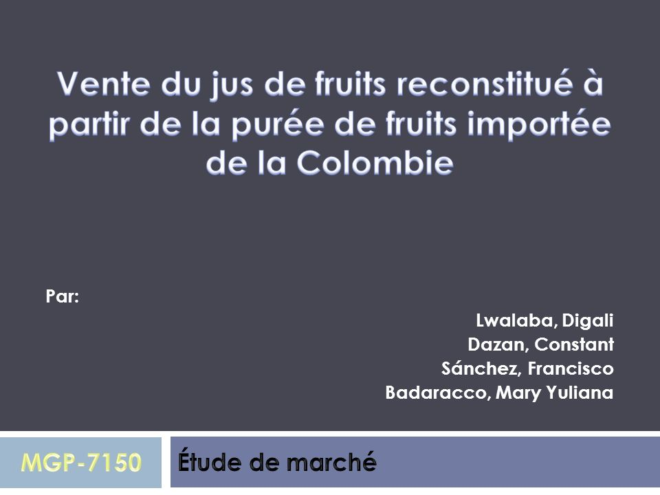 Par: Lwalaba, Digali Dazan, Constant Sánchez, Francisco Badaracco, Mary Yuliana