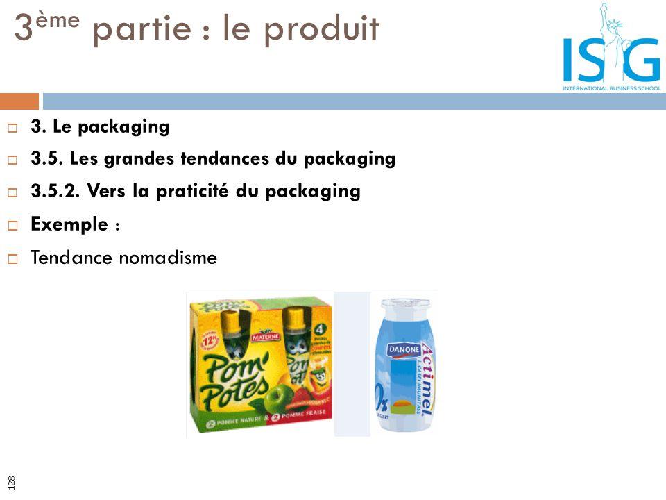 3. Le packaging 3.5. Les grandes tendances du packaging 3.5.2. Vers la praticité du packaging Exemple : Tendance nomadisme 3 ème partie : le produit 1