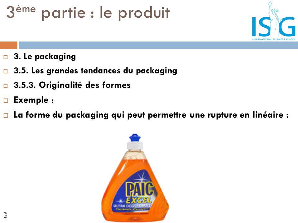 3. Le packaging 3.5. Les grandes tendances du packaging 3.5.3. Originalité des formes Exemple : La forme du packaging qui peut permettre une rupture e