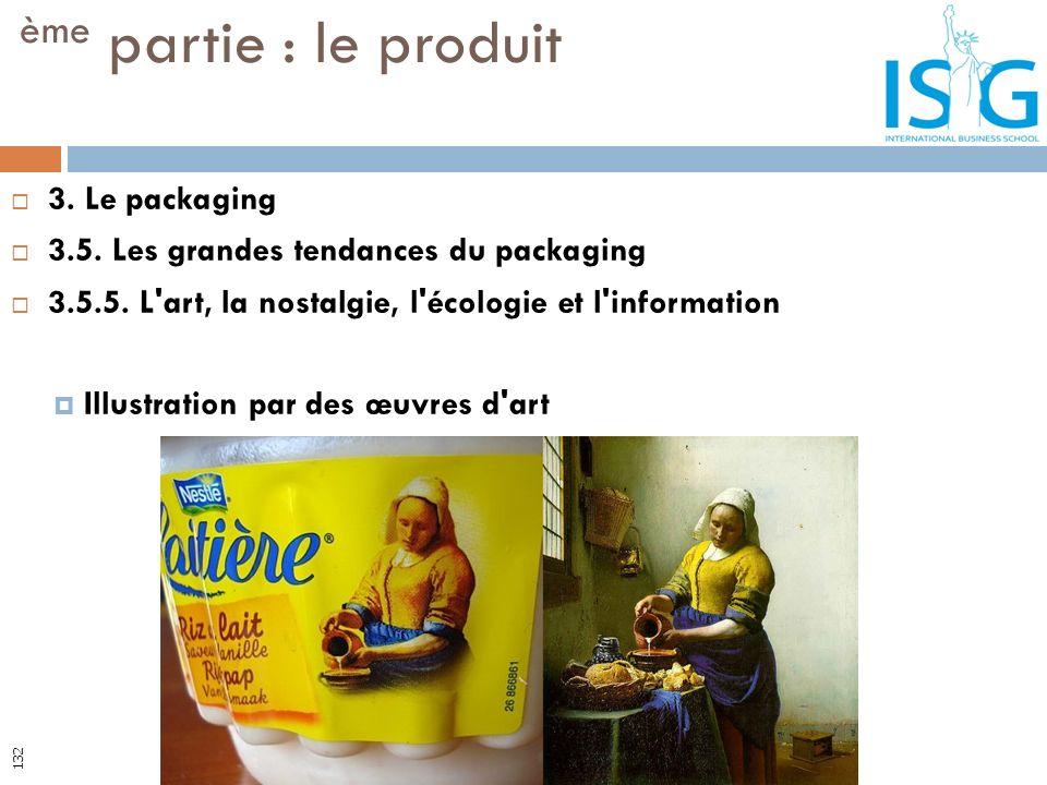 3. Le packaging 3.5. Les grandes tendances du packaging 3.5.5. L'art, la nostalgie, l'écologie et l'information Illustration par des œuvres d'art ème