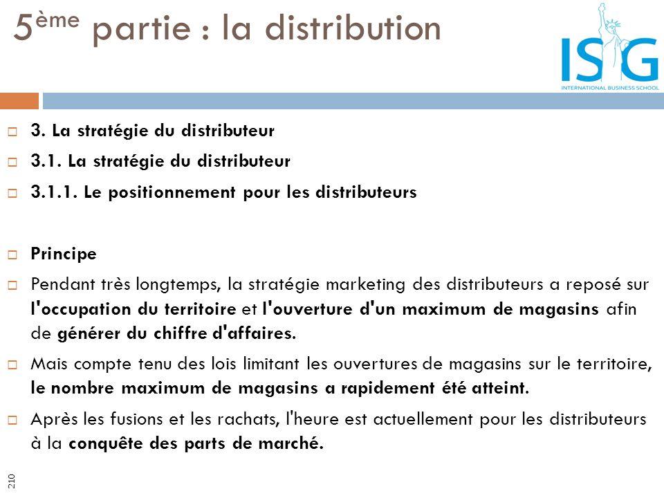 3. La stratégie du distributeur 3.1. La stratégie du distributeur 3.1.1. Le positionnement pour les distributeurs Principe Pendant très longtemps, la