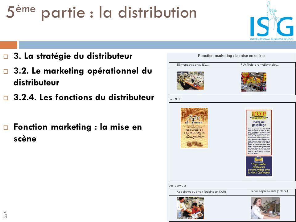 3. La stratégie du distributeur 3.2. Le marketing opérationnel du distributeur 3.2.4. Les fonctions du distributeur Fonction marketing : la mise en sc