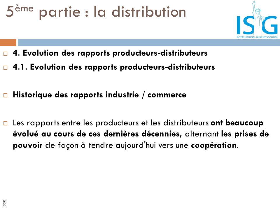 4. Evolution des rapports producteurs-distributeurs 4.1. Evolution des rapports producteurs-distributeurs Historique des rapports industrie / commerce